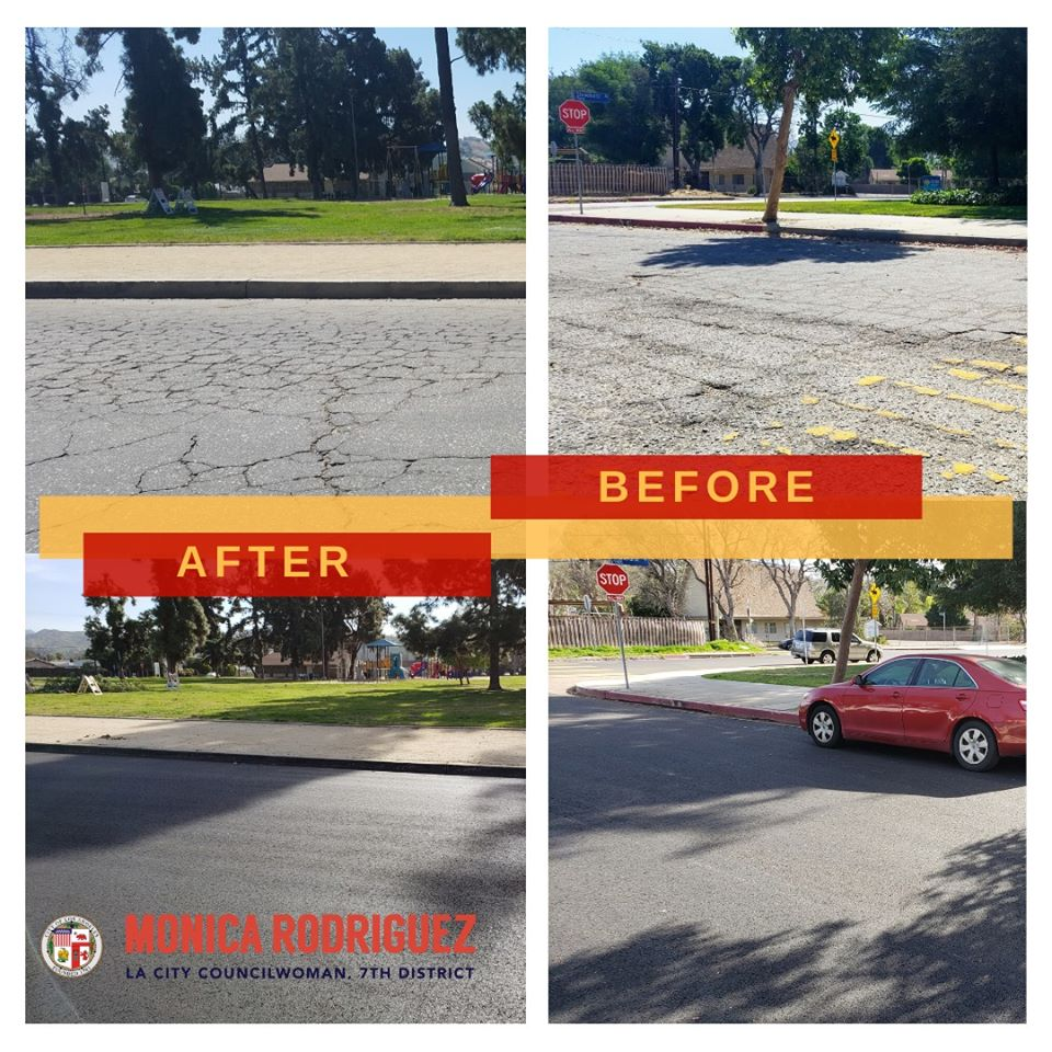 Councilwoman Monica Rodriguez Resurfacing Stonehurst_Avenue