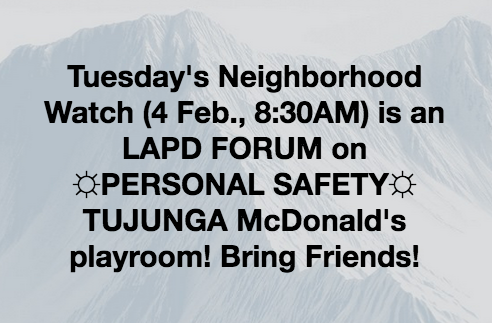 STNC - LAPD Forum on Personal Safety