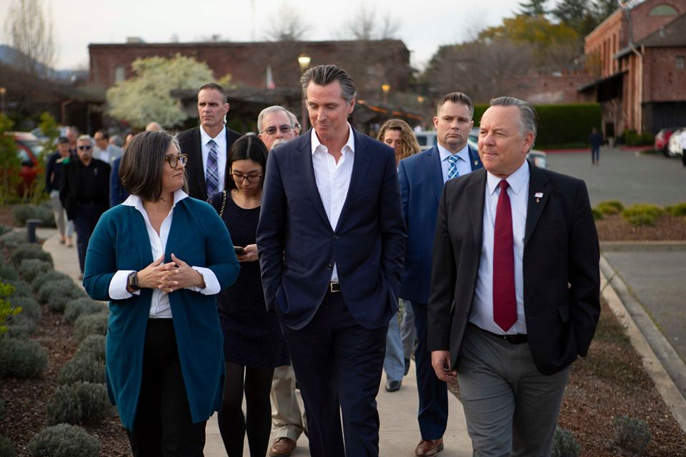 Councilwoman Monica Rodriguez met Governor Gavin Newsom