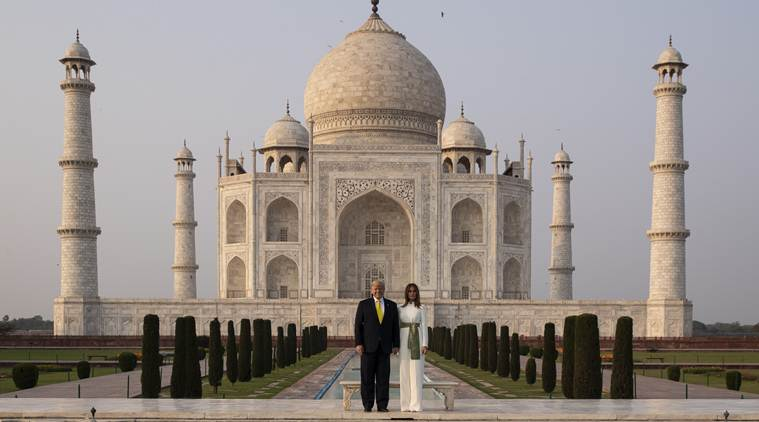 US President Donald Trump at Taj Mahal, India