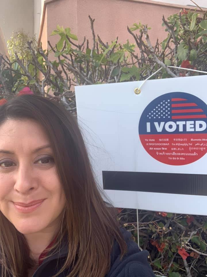 Assembly member Luz Rivas - I Voted