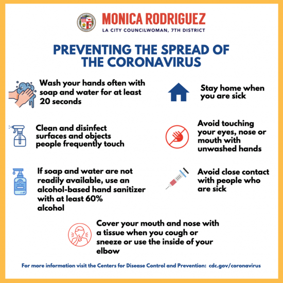 Councilwoman Monica Rodriguez - Preventing the Spread of The Coronavirus