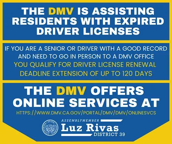 Assemblymember Luz Rivas Desk - the Department of Motor Vehicles Helping Seniors