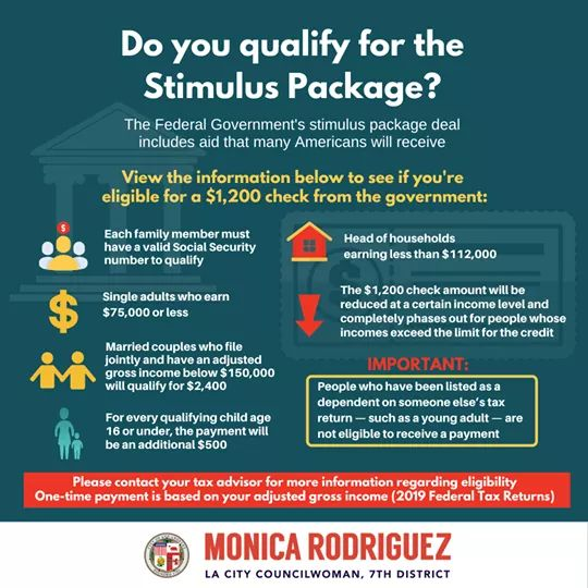 Councilwoman Monica Rodriguez Desk - Do You Qualify for the Stimulus Package due to COVID-19
