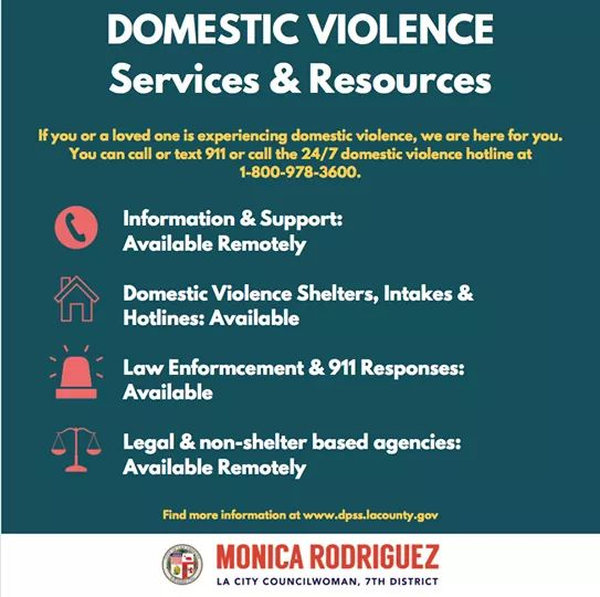 Councilwoman Monica Rodriguez  - Call or Text 911 for Domestic Violence