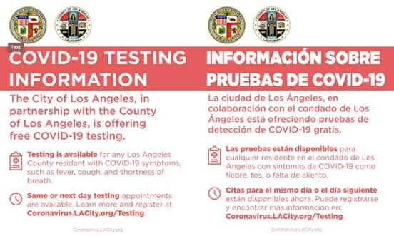 Councilwoman Monica Rodriguez - COVID-19 Testing Information