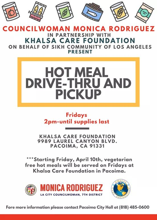 Councilwoman Monica Rodriguez in Association with Khalsa Care Foundation