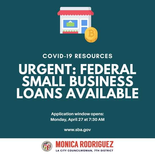 Councilwomam Monica Rodriguez - Federal Small Business Loans Available