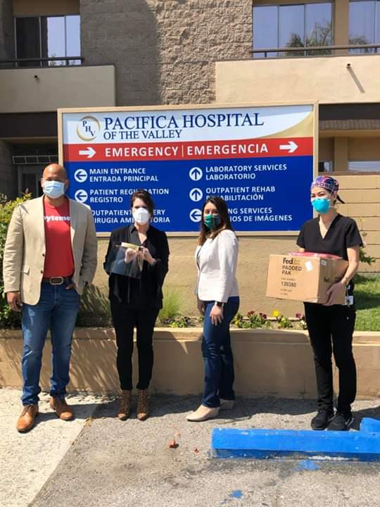 Assemblymember Luz Rivss  - Provided Face Shields to First Responders at Pacifica Hospital and Northeast Valley Health Corporation