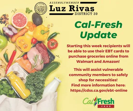 Assemblymember Luz Rivas  - If You Qualify and or Have an #EBT Card