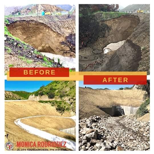 Councilwoman Monica Rodriguez Desk - Reconstruction Project at La Tuna Canyon Road