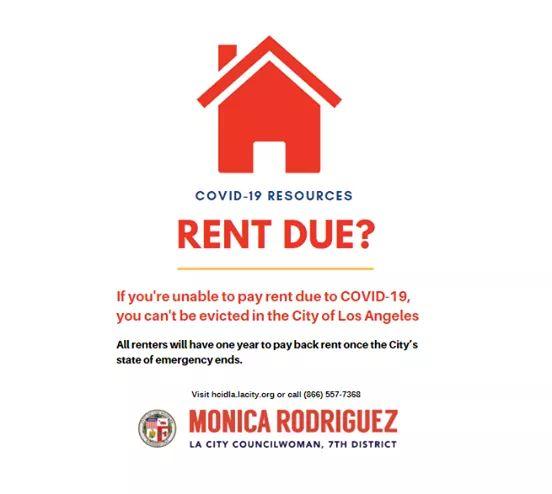 Councilwoman Monica Rodriguez  - COVID-19 Resources - Rent Due