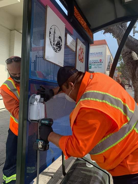 Councilwoman Monica Rodriguez - The City Rolled out 300 Hand Sanitizing Stations