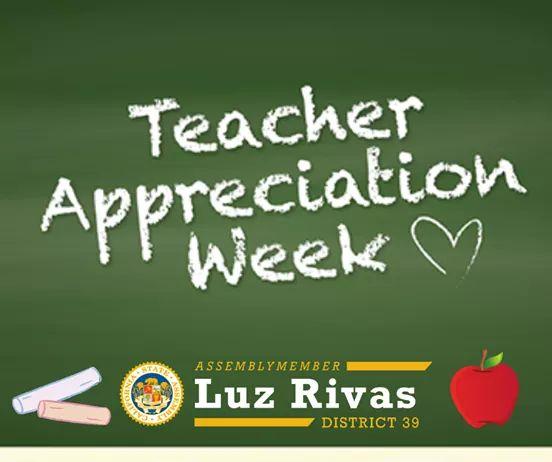 Assemblymember Luz Rivas - Thank You, Teachers. #AD39 Appreciates You!