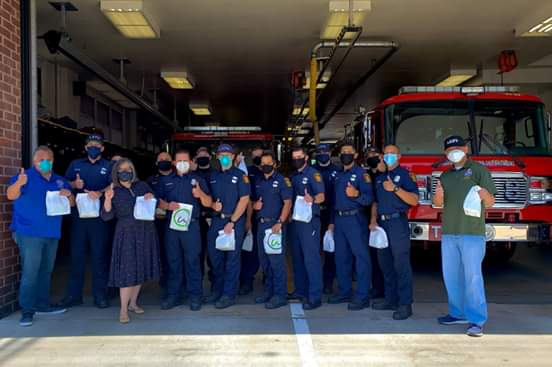 Councilwoman Monica Rodriguez  - Delivered Meals to the Firefighters at Fire Station 98 in Pacoima