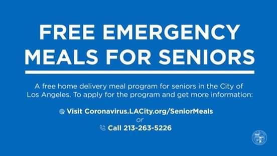 Sunland Tujunga Neighborhood Council STNC -  Free Emergency Meals for Seniors