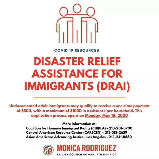 Councilwoman Monica Rodriguez  - Disaster Relief  Assistance for Immigrants (DRAI)