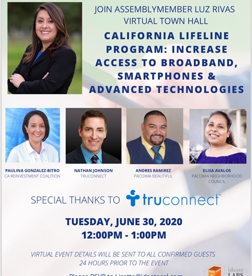 FREE Virtual Town Hall on the California Lifeline Program