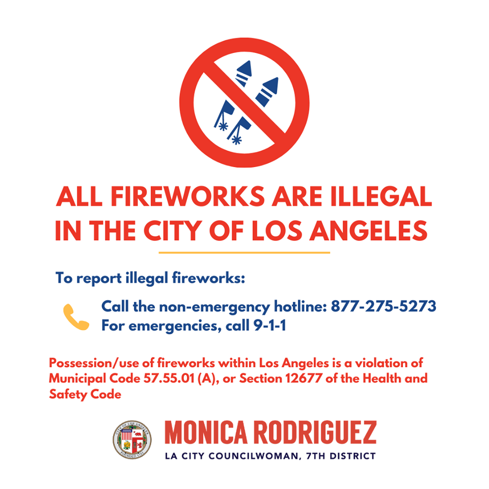 Illegal to Use, Sell, or Discharge Fireworks