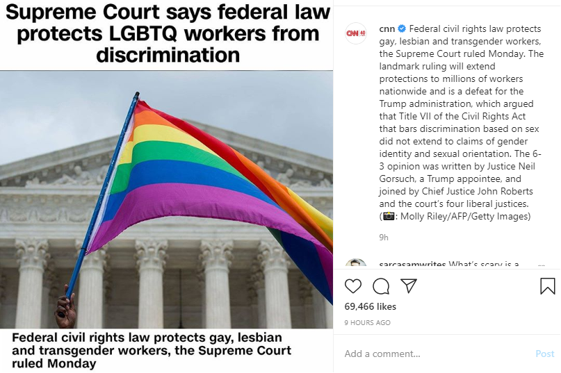 Ruling for Gay and Transgender Rights