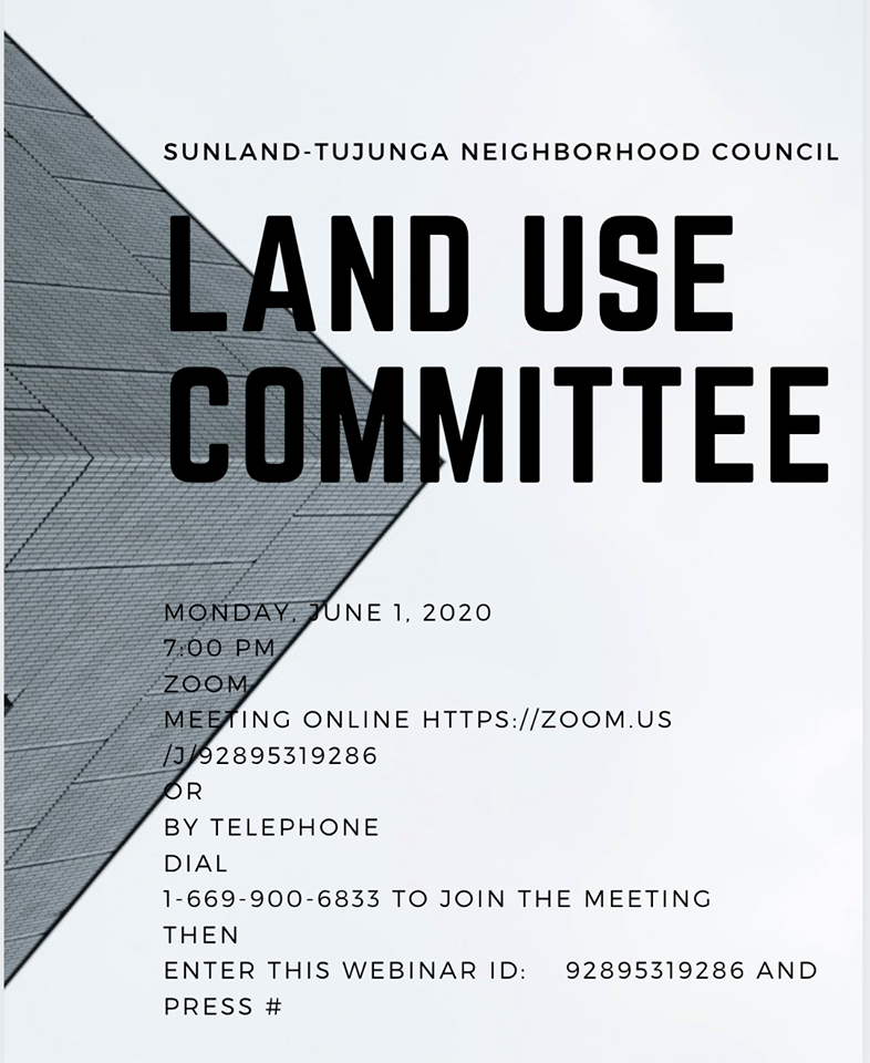 STNC - Join us at the STNC Land Use Committee Tonight