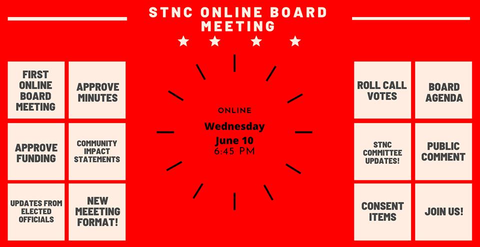 Sunland Tujunga Online Board Meeting, June 10, 2020