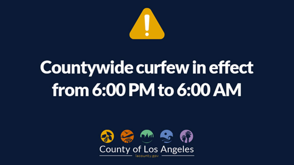 Curfew in place tonight 6 p.m. to 6 a.m.