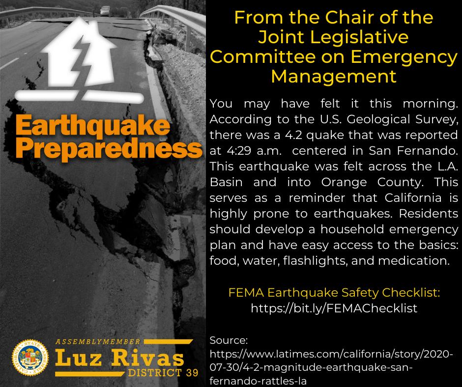 4.2 Earthquake in San Fernando