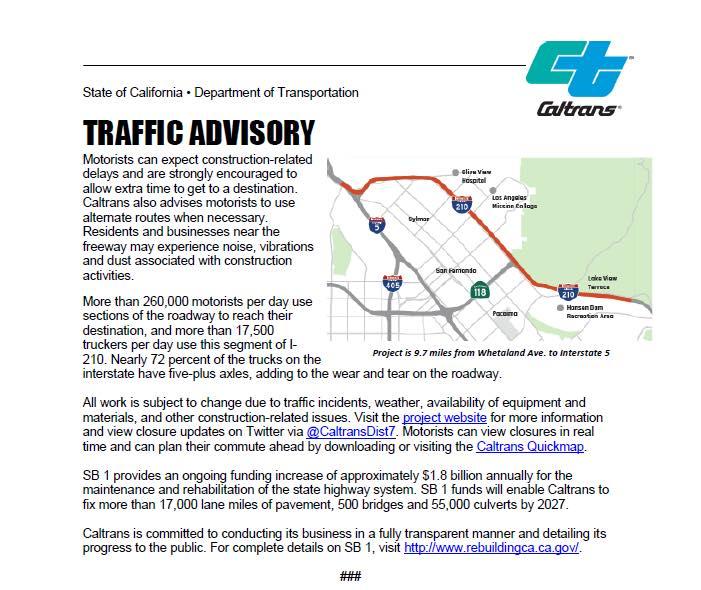 Caltrans Announced a $135.5 Million Pavement