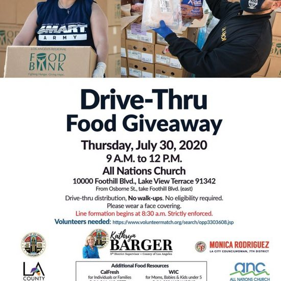 Drive-Thru Food Giveaway