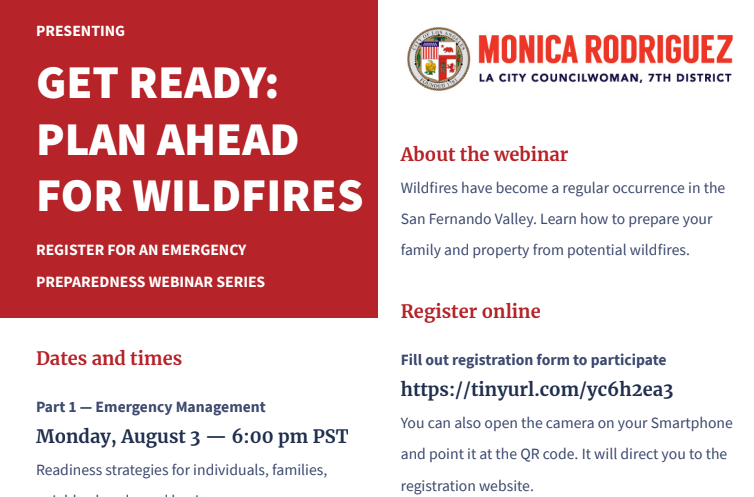 Get Ready: Plan Ahead for Wildfires