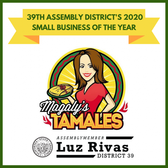 Recognition Small Business Magaly's Tamales & Mexican Grill