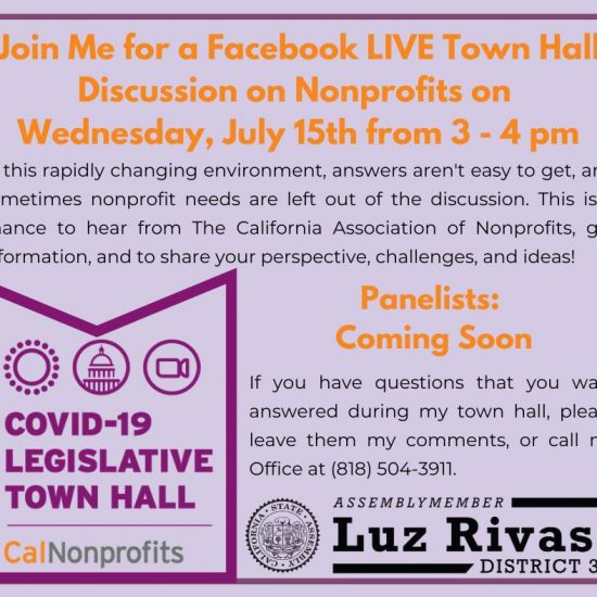 The California Association of Nonprofits on Wednesday