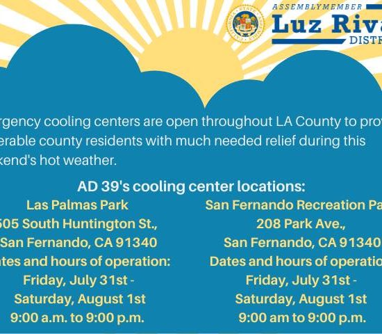 AD39's Cooling Center Locations