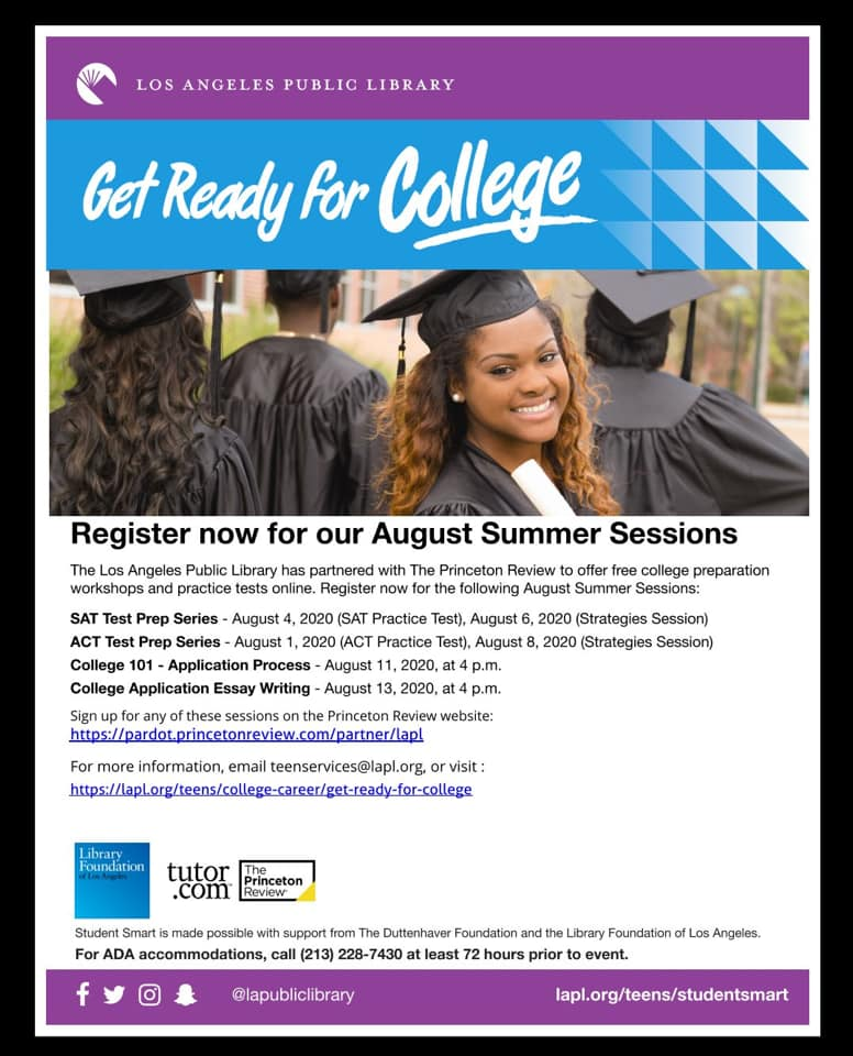 Free College Workshops and Practice Tests