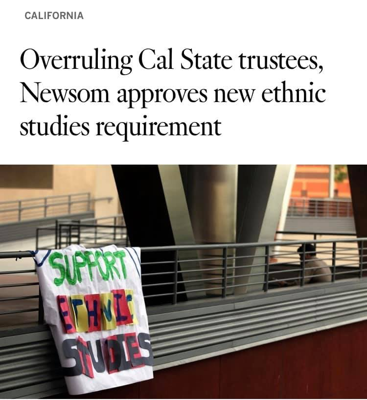 Newsom Approves New Ethnic Studies Requirement