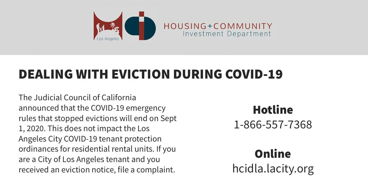 Dealing with Eviction during COVID-19