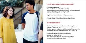 Our Virtual Youth Development Listening Sessions