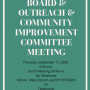 Special Board, Outreach & Community Improvement Committee Meeting