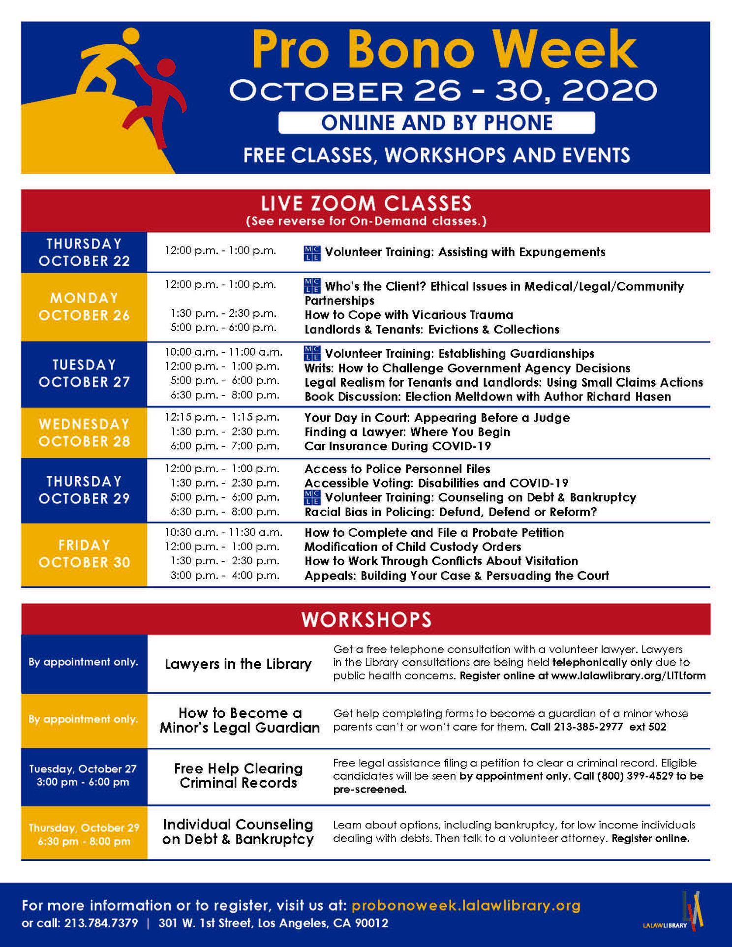 Annual Pro Bono Week Free Legal Fair
