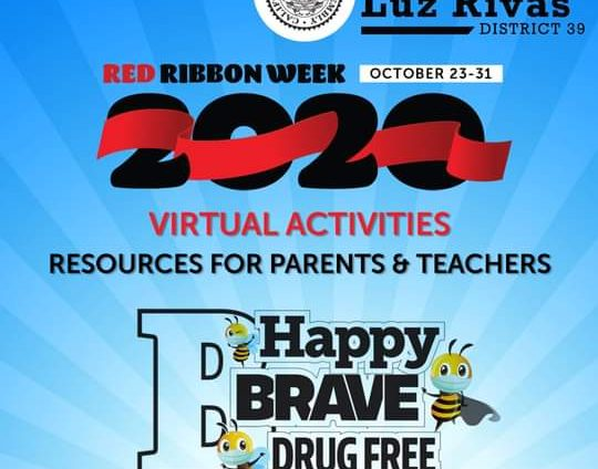 From Assemblymember Luz Rivas Desk - Red Ribbon Week