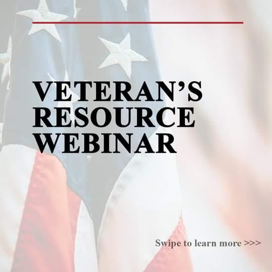 Veteran's Resource Webinar on Tuesday