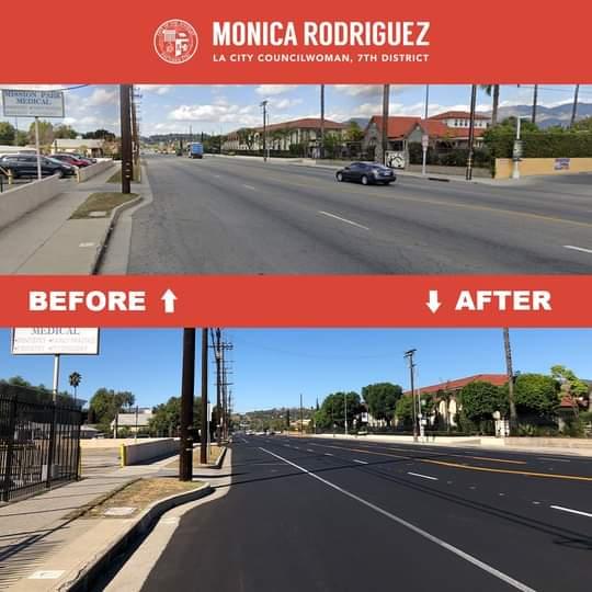 Resurfaced, Repainted Crosswalks
