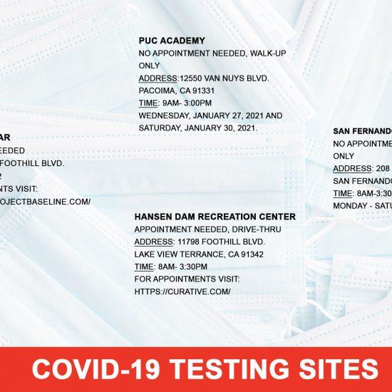 COVID-19 Testing Sites