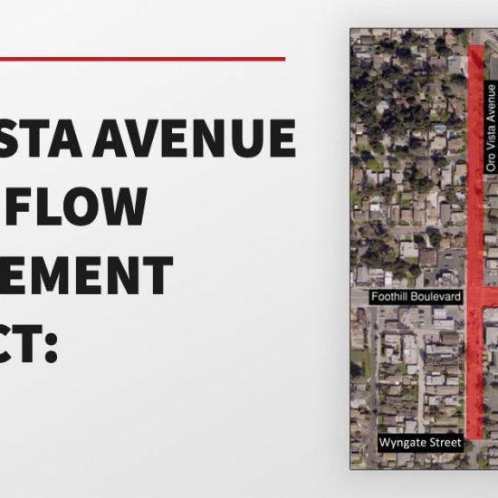 Oro Vista Urban Flow Management Project