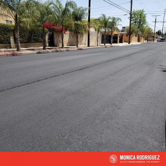 Applying Slurry Seal to More than 80 Street Segments