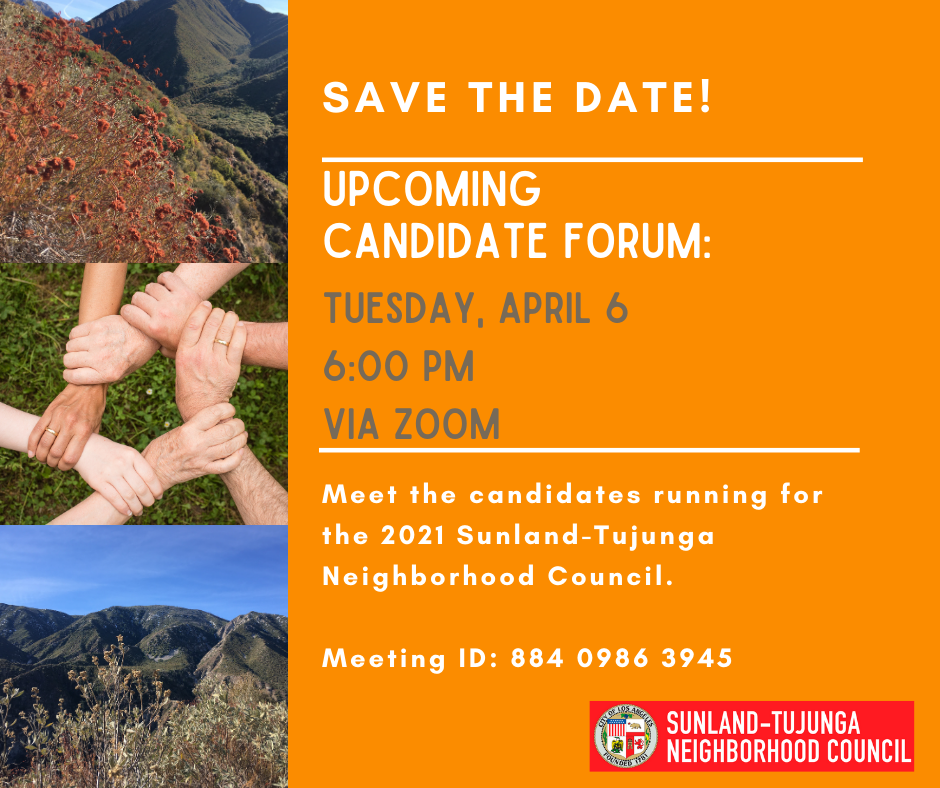 Candidate Forum on Tuesday, April 6th