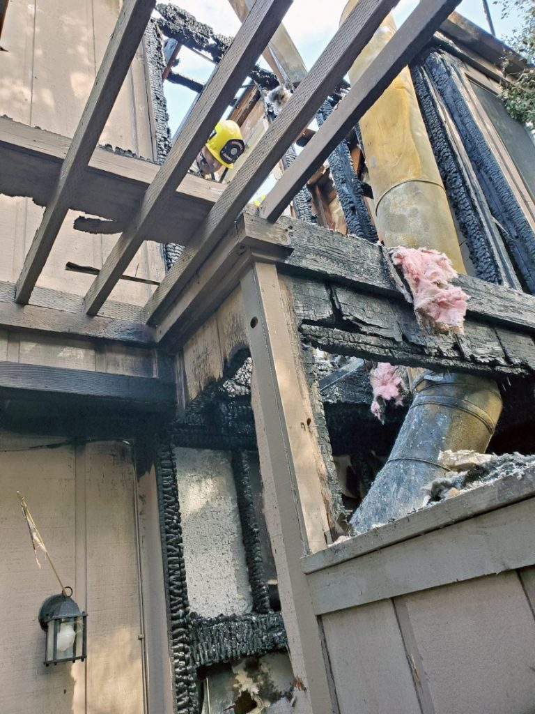 La Crescenta Townhome Damaged by Chimney Fire