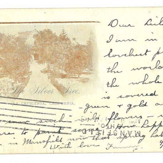 La Crescenta Postcard in 1905