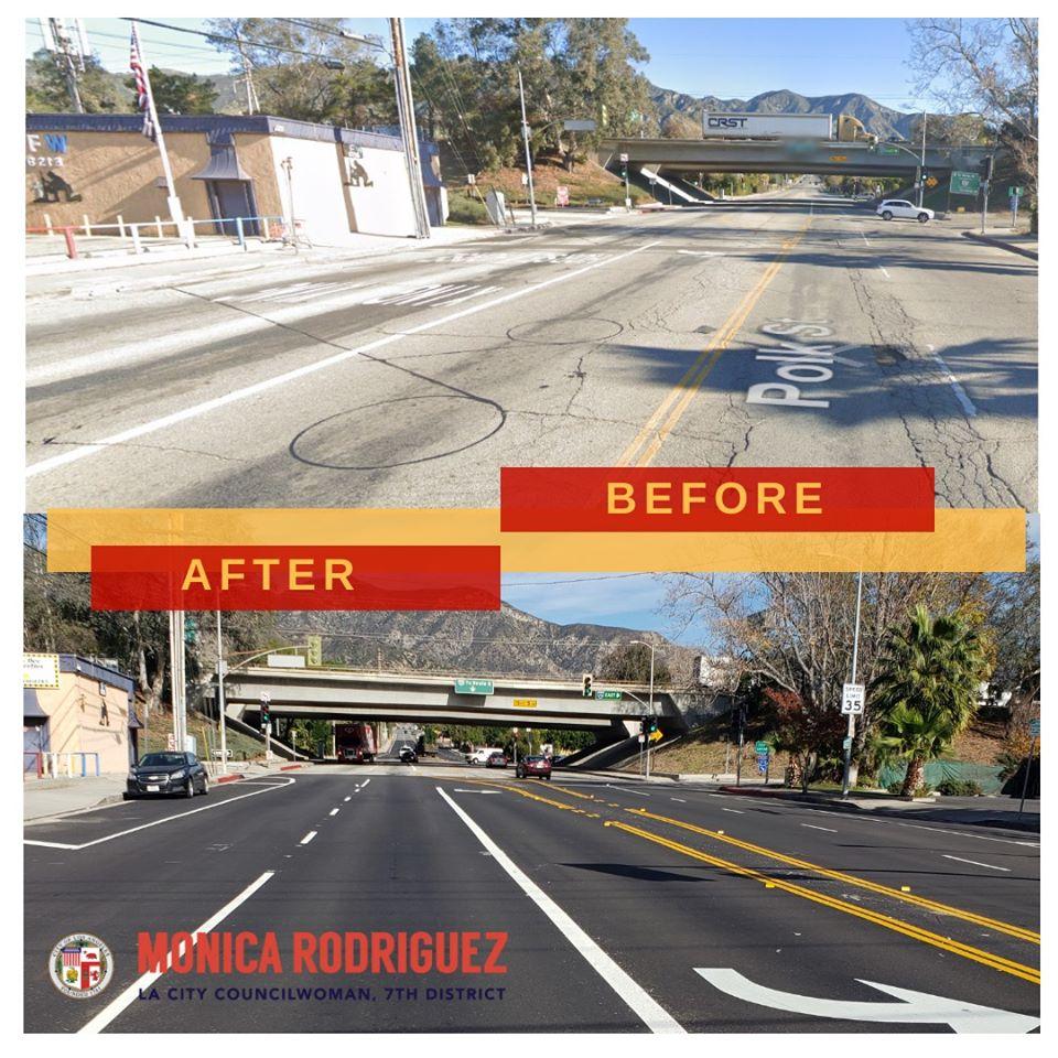 Councilwoman Monica Rodriguez - Repair at Polk St.